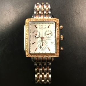 Ladies Invicta watch with 16 small diamonds